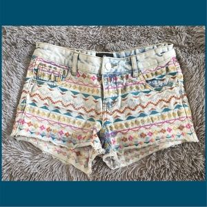 Angie embroidered jean shorts